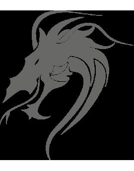 Stickers tête de dragon Asie