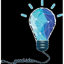 Stickers ampoule électrique good idea polygonale moderne design