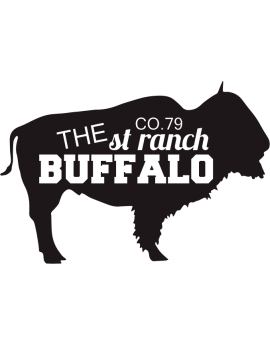 Stickers bison avec texte the St ranch Buffalo