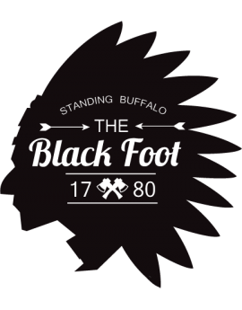 Stickers tête de d'indien Black foot