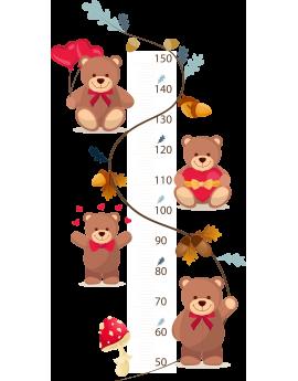 Stickers toise enfant bébé ourson