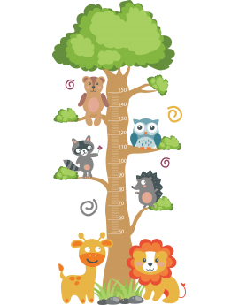 Stickers toise enfant bébé animaux sauvage jungle