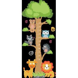 Stickers toise enfant bébé animaux sauvage jungle