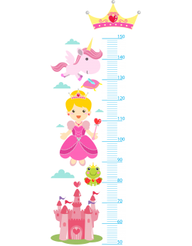 Stickers toise fille princesse