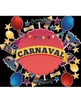 Stickers fête carnaval ballons masques étoiles