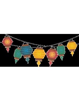 Stickers guirlande de lampions asiatique