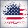 Stickers drapeau américain éclaboussure tâche