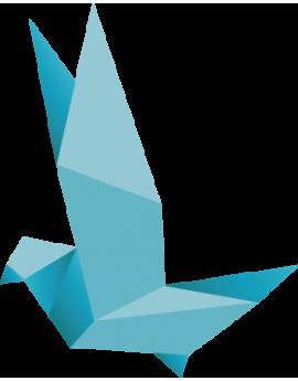 Stickers origamis oiseau bleu moderne design