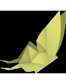Stickers papillon origamis vert moderne design polygonal