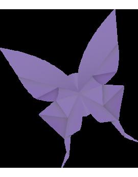 Stickers papillon origamis violet moderne design polygonal