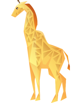 Stickers enfant girafe polygonal moderne design
