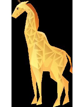 Stickers enfant girafe polygonal moderne design