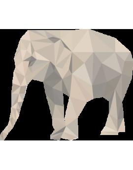 Stickers éléphant polygonal gris moderne design