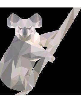 Stickers koala polygonal moderne design