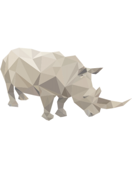 Stickers enfant rhinocéros  polygonal moderne design