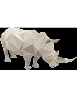 Stickers enfant rhinocéros  polygonal moderne design