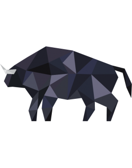 Stickers bison polygonal moderne design