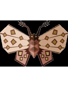 Stickers papillon de nuit moderne design