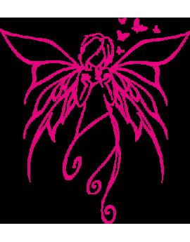 Stickers fée fille papillon