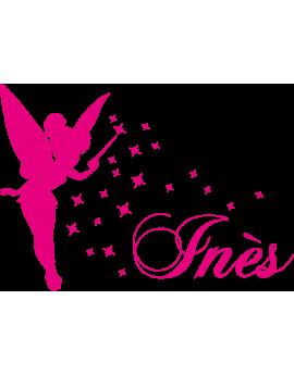 Stickers Fée prénom Ines