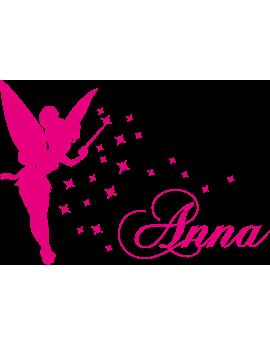 Stickers Fée prénom Anna