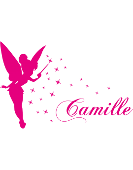 Stickers Fée prénom Camille