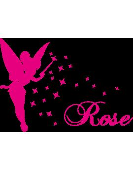 Stickers Fée prénom Rose