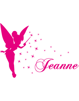 Stickers Fée prénom Jeanne