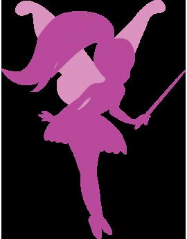 Stickers fée violette