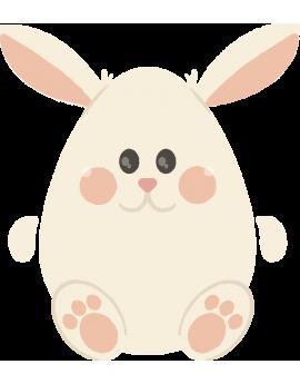 Stickers œuf de pâques  oreilles de lapin