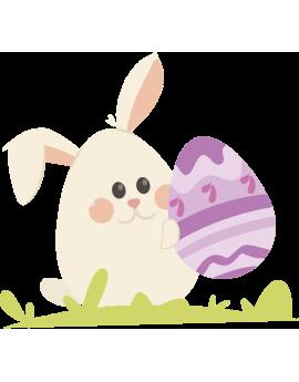 Stickers œufs de pâques  oreilles de lapin