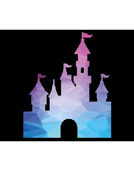 Stickers château Disneyland polygonale moderne design