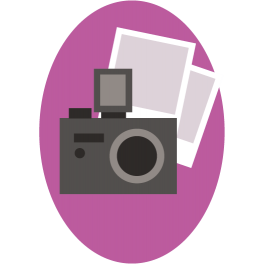 Stickers appareil photo fêtes