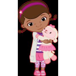 Stickers Docteur La Peluche avec mouton