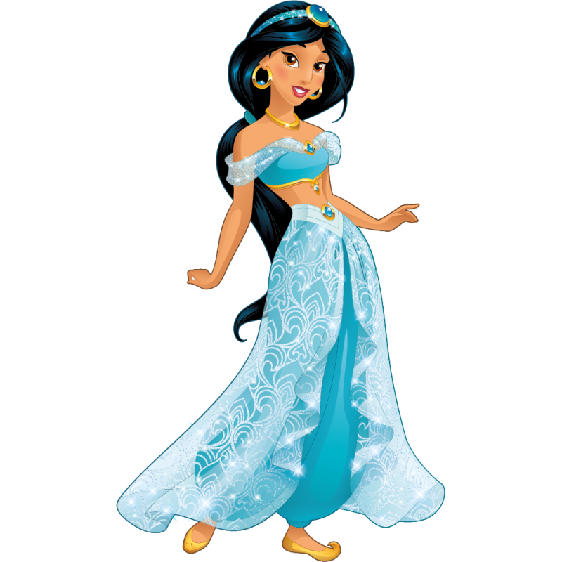 stickers princesse disney jasmine color stickers. Black Bedroom Furniture Sets. Home Design Ideas