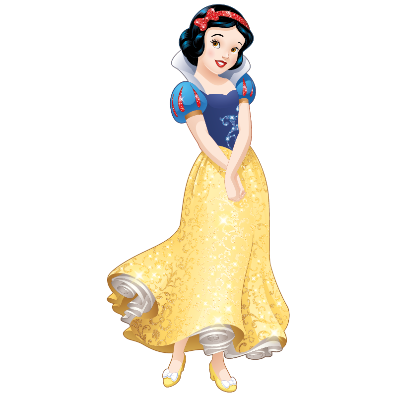 Stickers princesse disney blanche neige color stickers - La princesse blanche neige ...