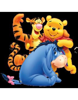 Stickers Winnie l'ourson et ses amis Bouriquet et  Tigrou