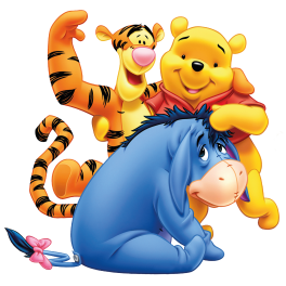 Amis Winnie L Ourson stickers winnie l'ourson et ses amis bouriquet et tigrou - color