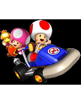 Stickers Mario Kart champignons