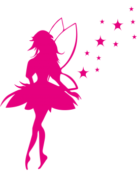 Stickers Fée avec étoiles