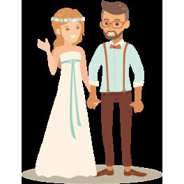 Stickers couple de marié