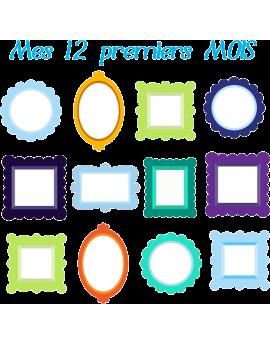 Stickers cadre pour mes 12 premiers mois garçon