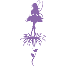 Stickers fée sur fleur