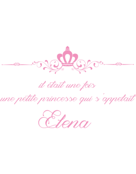 Stickers phrase princesse