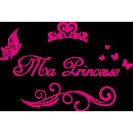 Stickers texte ma princesse