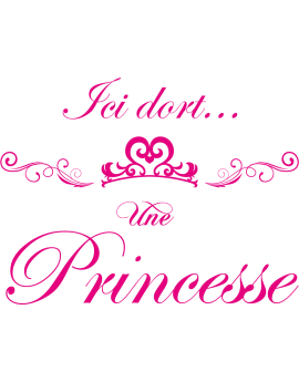 Stickers ici dort une princesse