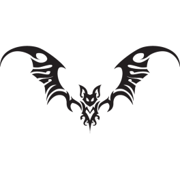 Stickers chauve souris tribal tuning