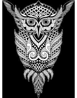 Stickers hibou géométrique