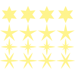 Stickers kit étoiles phosphorescentes