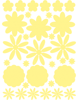 Stickers kit fleurs phosphorescentes
